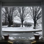 Our front entrance was a winter wonderland!