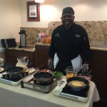 Chef Bobby takes the lead on our omelet action station!