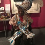 Resident, Mildred was decked head to toe in Mummers gear.