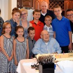 Walter shares a special moment with his grand-kids and great grand-kids!