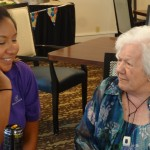 Mary and Community Life Team member, Maria share a special moment.