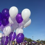 The purple and white themed colors decorated the entire event!