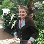 Esther loved seeing all of the butterflies and the atrium décor.