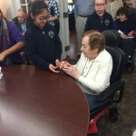It was lovely to see the interaction between the students and the residents!