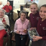The residents enjoyed the ornaments and cookies from the students!