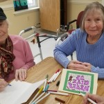Vera & Mary create inspirational cards.