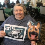 Woo Hoo - Elaine is super excited for the game since her grand-daughter is an Eagles cheerleader!