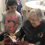 Resident, Esther, loved reading the homemade Valentine.