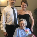 Sandy and her dance partner, Valentine, were thrilled that they could surprise Christine with this special dance.