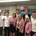 The Delta Tau Delta greasers were all smiles with some pink ladies.