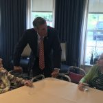 Governor Carney met and mingled with the residents.