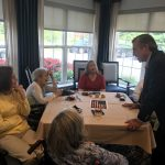 Governor Carney enjoyed chatting with the residents during the event.