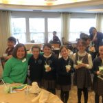 Everyone enjoyed their Shamrock Shakes along with friendly conversation.