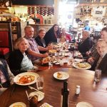 The group enjoyed Italian food, good wine and even better conversation.